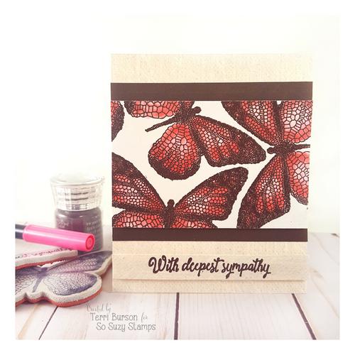 Embossed Butterflies Sympathy Card by Terri