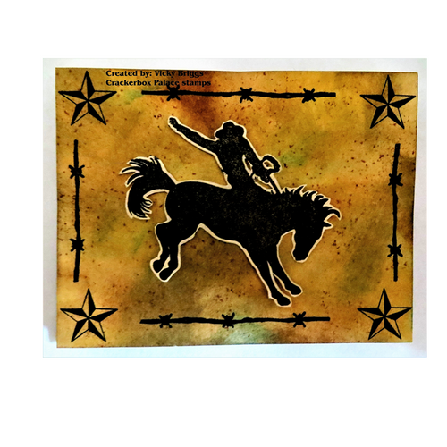 Bucking Bronco with Stars
