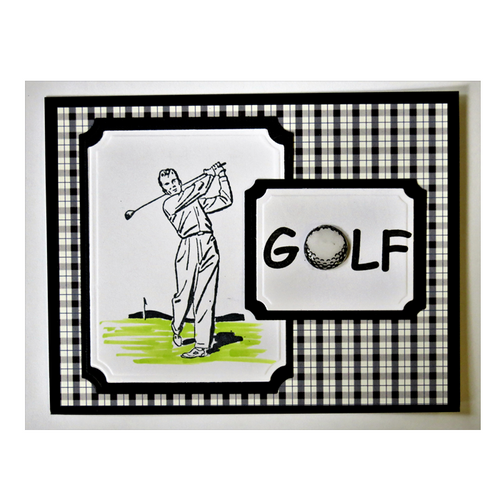 Golfer Black & White