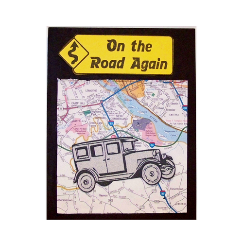 On The Road with map