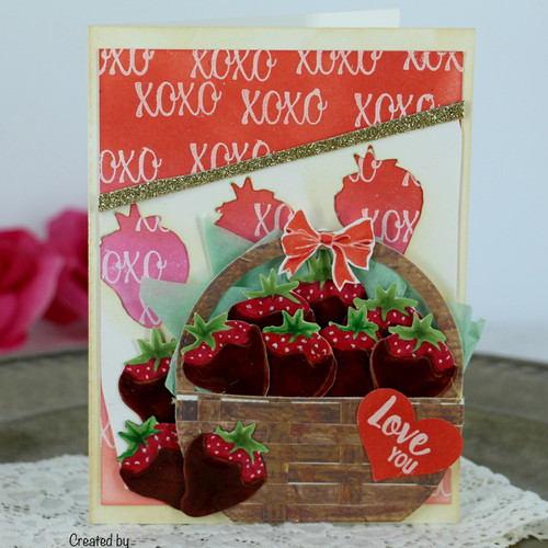 Strawberry basket card by Teresa