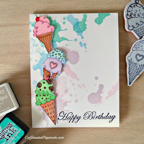Ice-cream birthday card