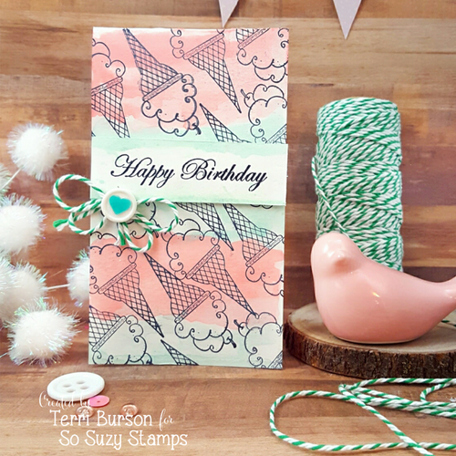 Pink birthday card by Terri