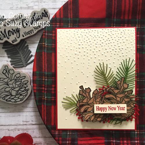 Snowy pinecones by Martha