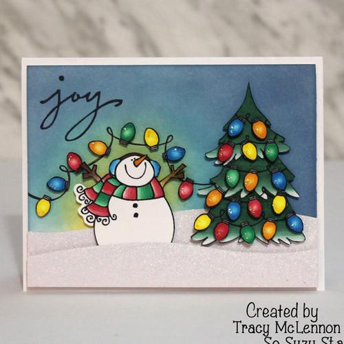Fun winter scene by Tracy