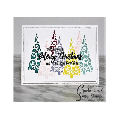 Merry Christmas Swirl Trees