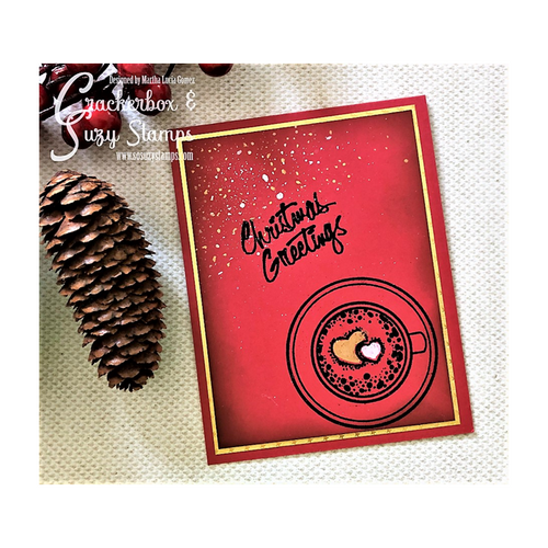 Christmas Greeting with Coffee