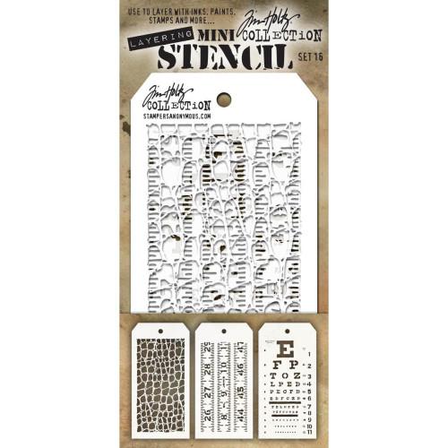 Tim Holtz Mini Stencil set 16