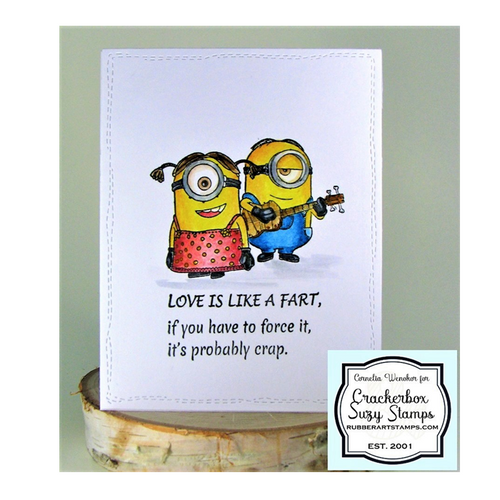 Love is like a fart is a funny saying that the Minion would sing.