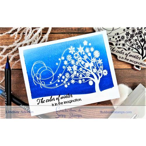 Resist Technique 2 Stamps 2 Cards