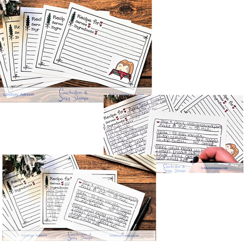Hand Stamped Recipe Cards and Video