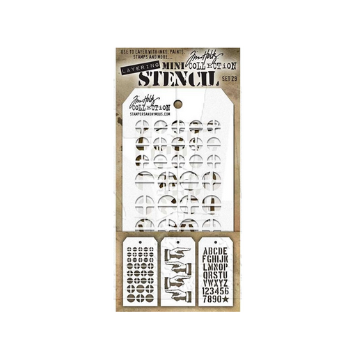 Tim Holtz Mini Stencil Set 29