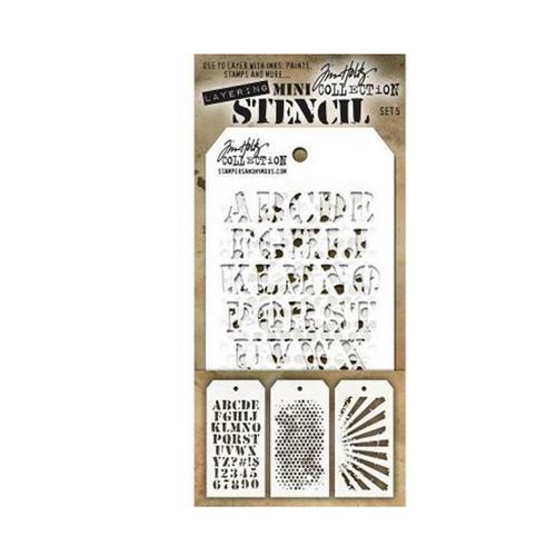 Tim Holtz Mini Stencil 5