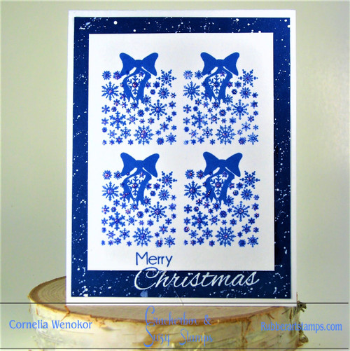 Delft Tiles Inspired Christmas Card