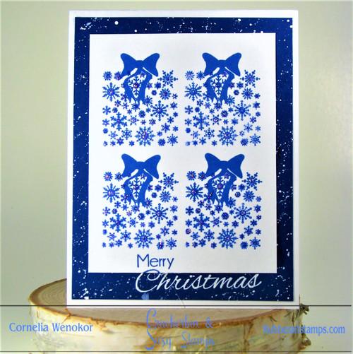Delft Tiles Inspired Christmas Card