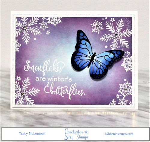 Snowflakes and Blue Butterfly