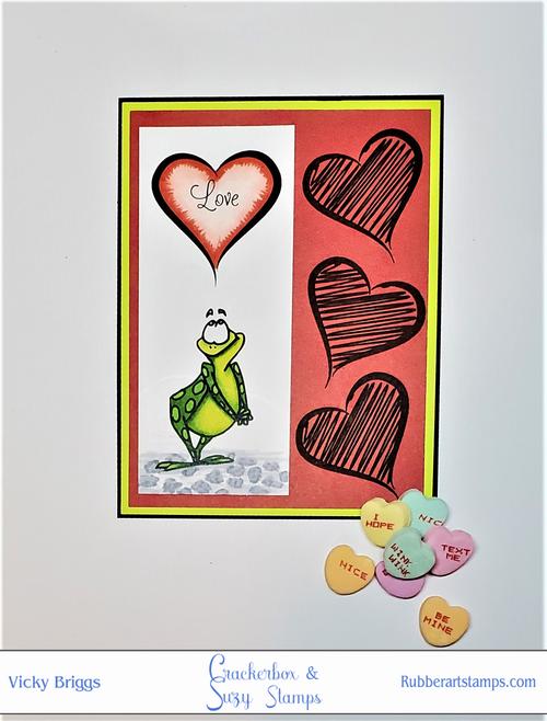 Cute Frog in Love