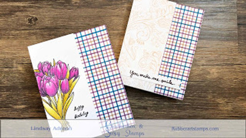 Tulips and Easy Tattersall/Plaid Backgrounds with Video