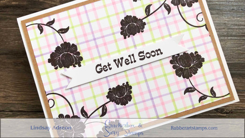 Get Well Soon  and Easy Tattersall/Plaid Background