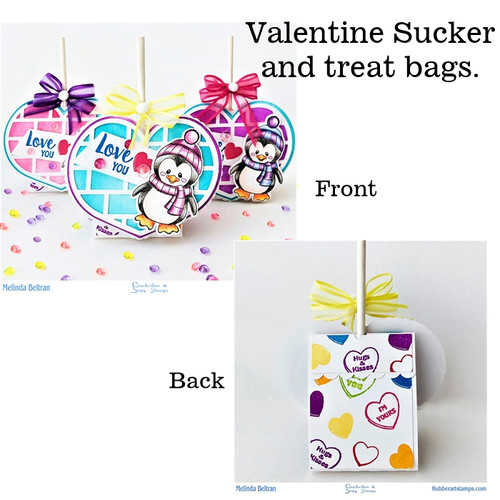 Valentine Sucker and Treat Bag