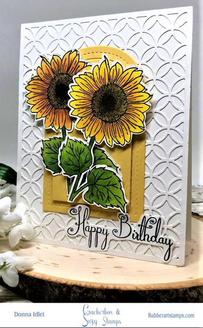 Two Birthday Sunflowers