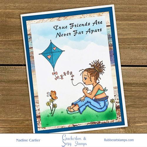 Girl and Kite Card