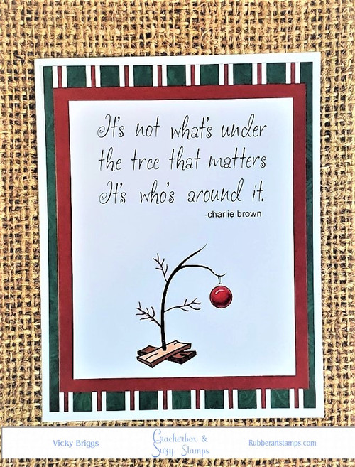 Charlie Brown Saying and Tree
