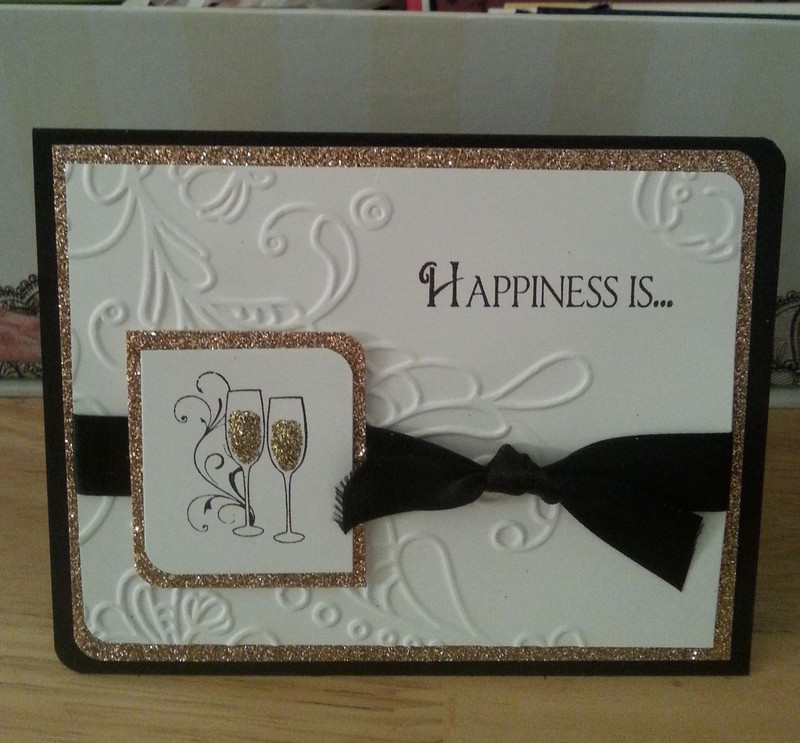 Swirled Champagne Flutes - Card - So Suzy Stamps