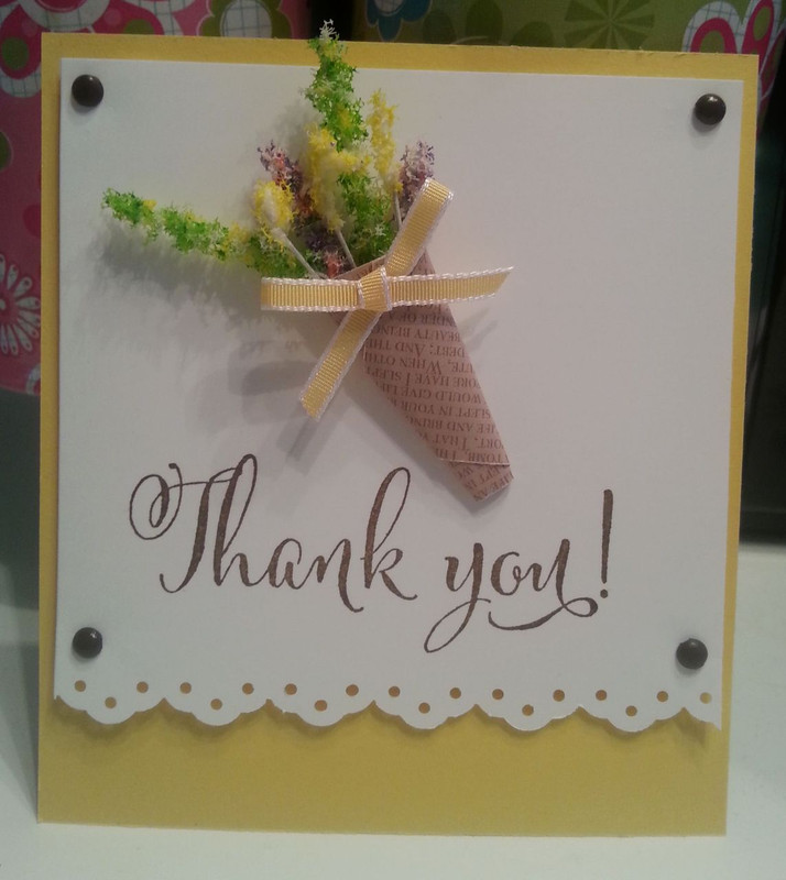 Thank You Card using Flower Soft