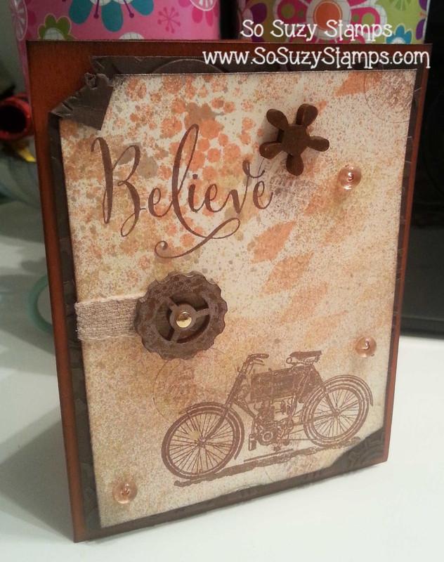 Vintage Motorcycle Card