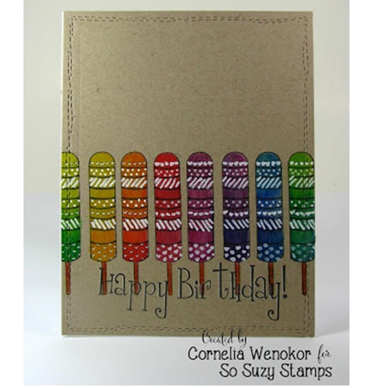 Ombre Rainbow Popsicles by Cornelia