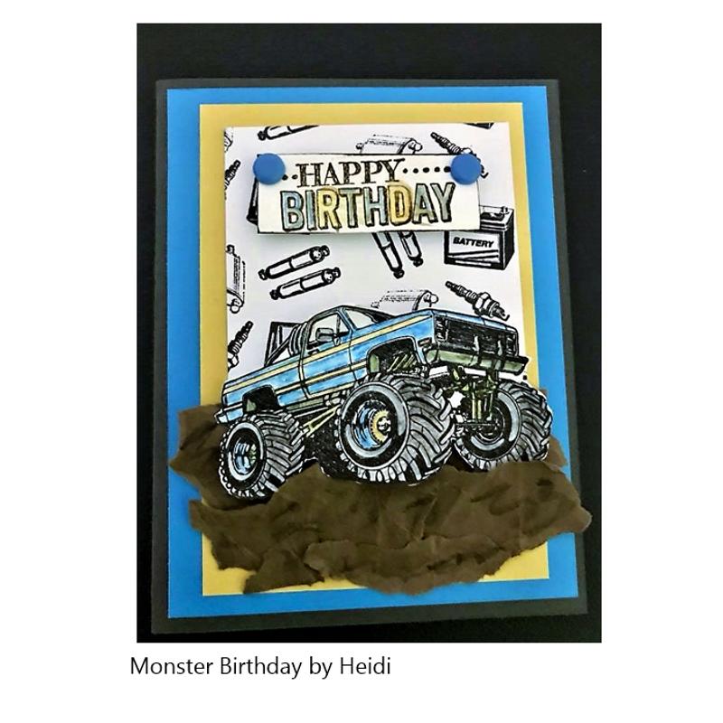 Monster Birthday by Heidi