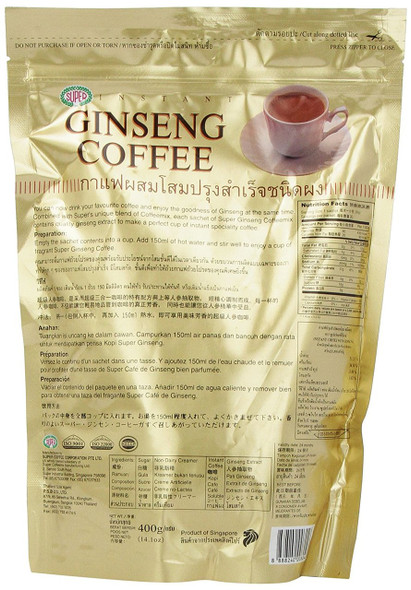 Super Instant Ginseng Coffee, 20 bags