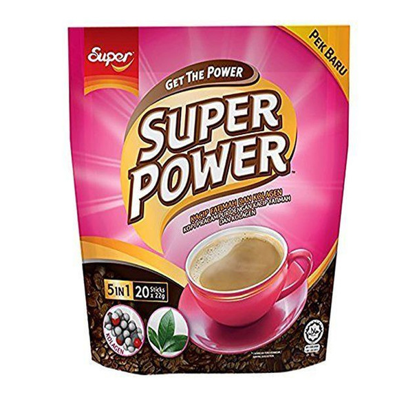 Super Power 5in1 Instant Collagen Coffee, 20 Sticks - Wynmarket