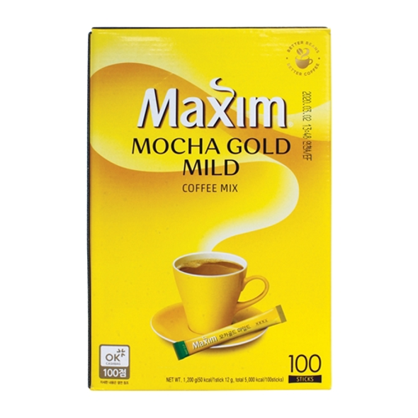 Maxim Mocha Gold Mild Instant Coffee Mix, 100 Sticks