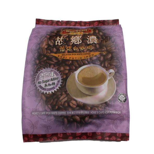 Home's Cafe Malaysia IPOH 2 in 1 White Coffee KOPI PUTIH NO SUGAR ADDED Premix Coffee