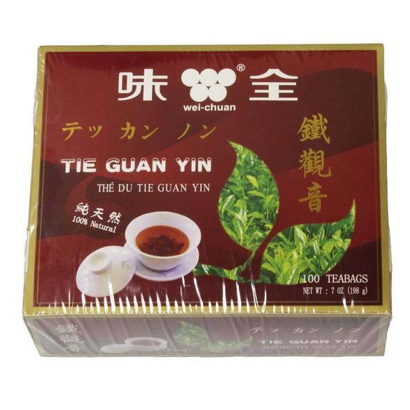 Wei-Chuan Chinese Tie Guan Yin Tea, 100 Teabags