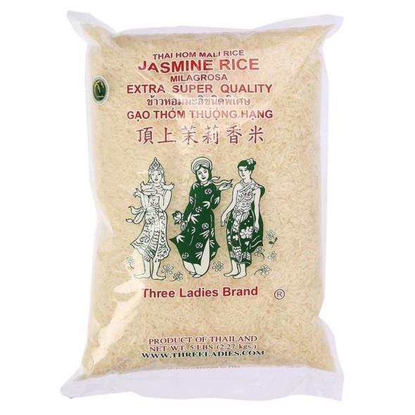 Three Ladies Jasmine Rice , 5 lbs