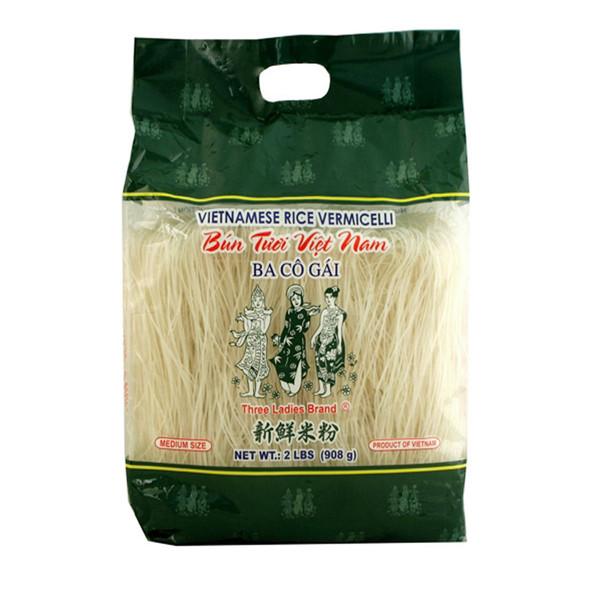Three Ladies Brand (Ba Co Gai) Vietnamese Rice Stick Vermicelli, 2lb