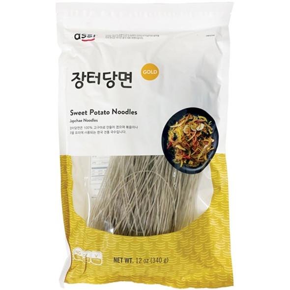 Assi Glass Noodles Korean Vermicelli Dangmyun Sweet Potato Starch, 12oz