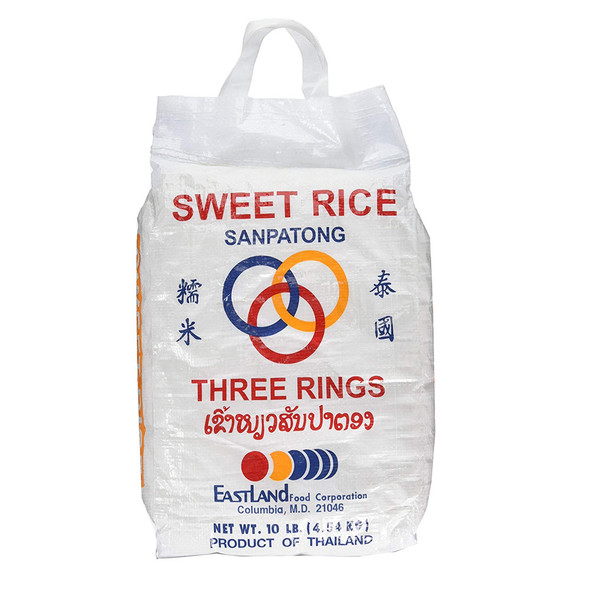 Three Rings Sweet Sticky Rice, 10lbs