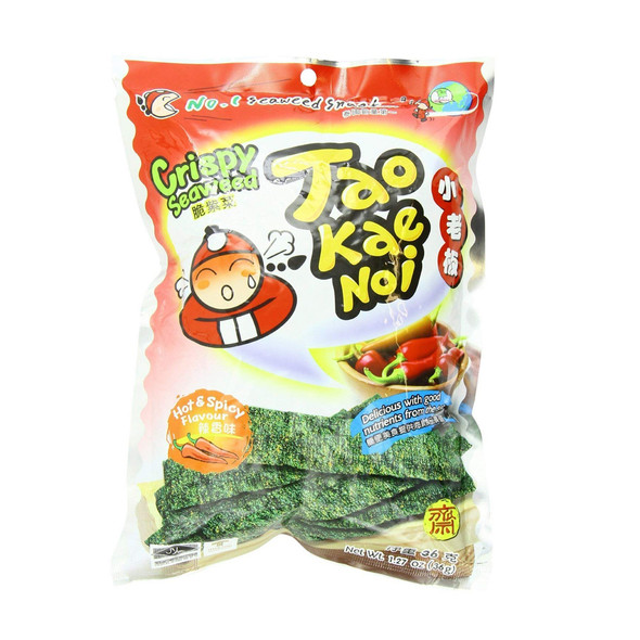Hot Spicy Crispy Seaweed Snack Taokaenoi