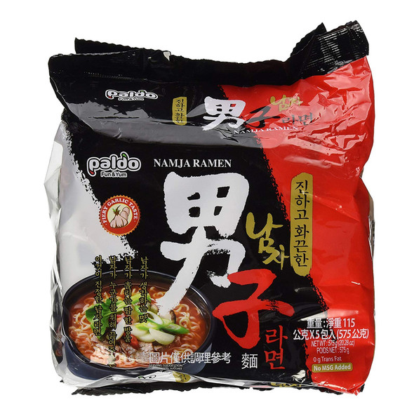 Korean  Paldo Namja Ramyun Instant Ramen Noodles
