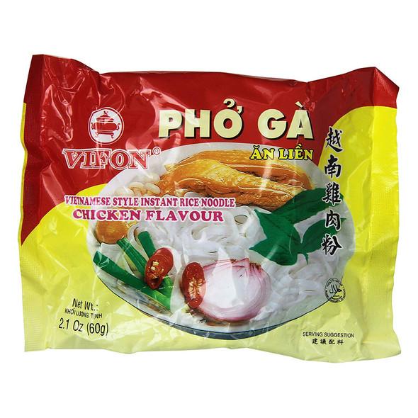 (24 Bags) Vifon Instant Vietnamese Pho Ga Chicken Flavor Soup, 2.1oz