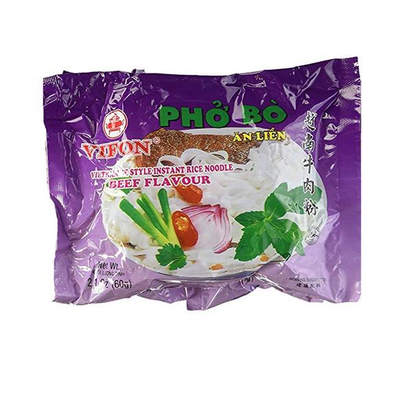 (24 Bags) Vifon Instant Beef Flavor Noodle Soup Pho Bo, 2.1oz