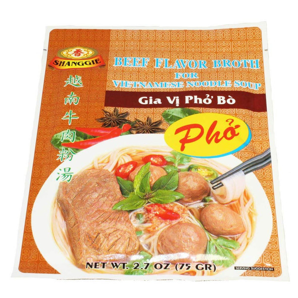 Instant Pho Broth Beef Flavor Vietnamese Noodle Soup