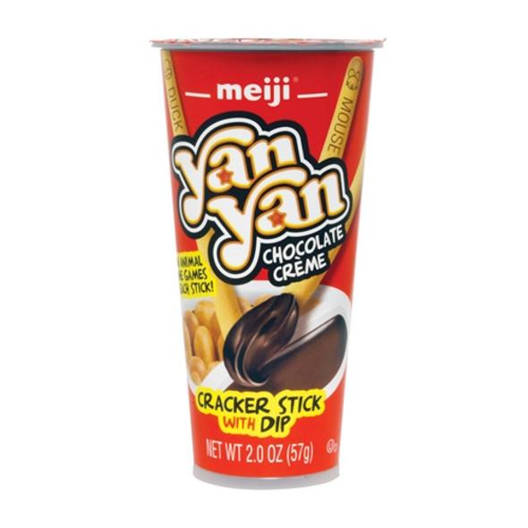 Meiji Yan Yan Chocolate Flavor Cracker Snack, 2oz - Asian Snack