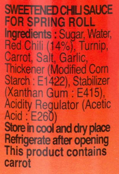 Pantai Norasingh Spring Roll Sweetened Chili Sauce Ingredients