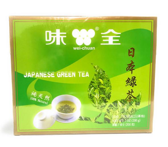 Wei Chuan Japanese Green Tea, 100 Teabags