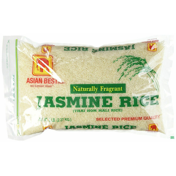 Asian Best Thai Hom Mali Jasmine Rice, 5lbs